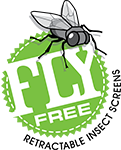 Fly Free Retractable Fly Screens Logo